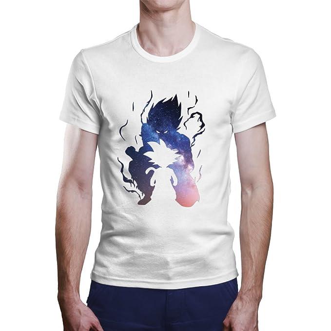 Camiseta Son Goku. Una Camiseta de Hombre Goku de Pequeño Dentro de Goku Mayor. Camiseta Friki de Color Blanca: Amazon.es: Ropa y accesorios