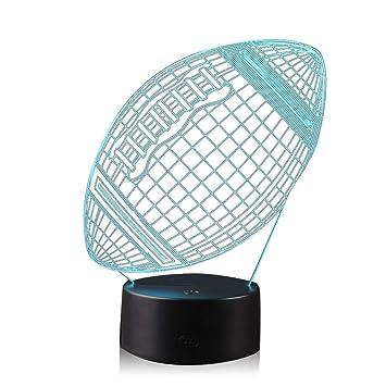 Amazon.com: AZALCO - Lámpara de noche con bola deportiva 3D ...
