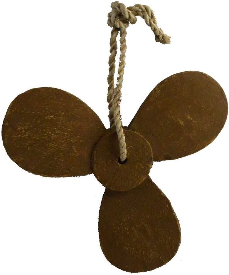 Nautical Tropical Imports Propeller Hanging Decor Distressed Wood with Rope Hanger