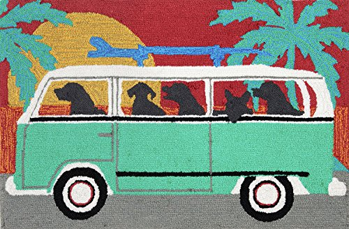Surfing Canines Rug