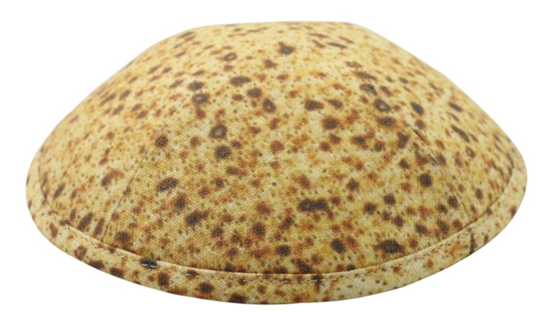 Judaica Place Matzah Kippah for Passover Holiday Cotton Twill