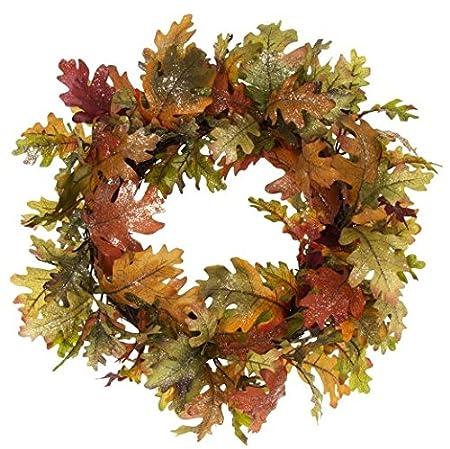 gisela graham autumn oak leaf wreath amazon co uk kitchen home