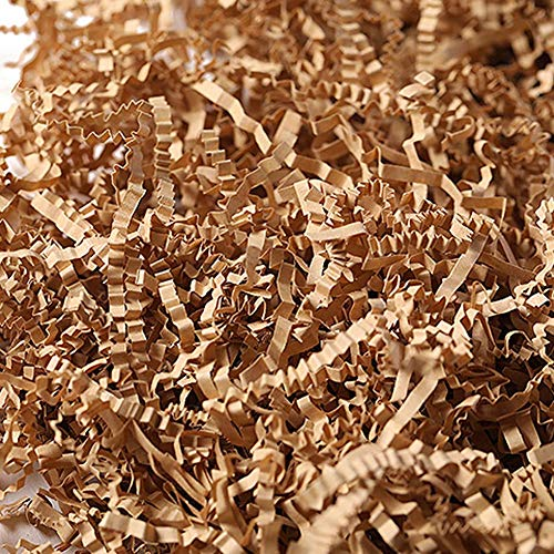 (Shredded Paper - Crinkle Cut Paper Shred Candy Boxes DIY Filler for Gift Packing and Baskets Filling,1 LB (Light Brown))