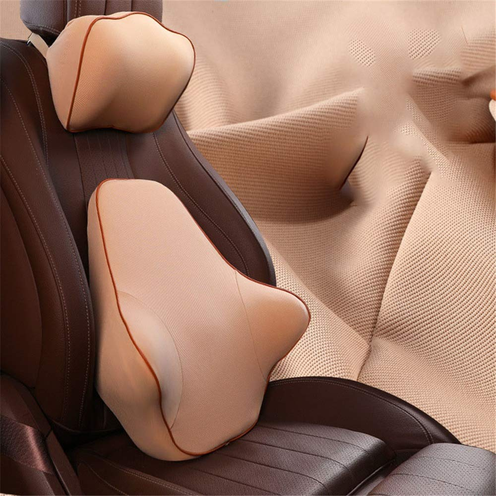 Beige Car Lumbar Pillow Seat Cushion - Relieve Back, Sciatica Coccyx and Tailbone Pain - Fits Office Chair and Car for Car Home Office Chair (color   Black)