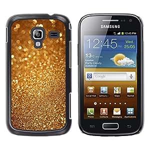 YOYOYO Smartphone Protección Defender Duro Negro Funda Imagen Diseño Carcasa Tapa Case Skin Cover Para Samsung Galaxy Ace 2 I8160 Ace II X S7560M - chispa polvo de oro del brillo de Bling del metal