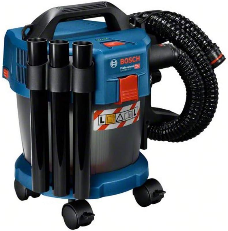 Bosch Professional GAS 18V-10 L - Aspirador a batería (18V, capacidad 10 l, manguera 1,6 m, 90 mbar, ruedas, adaptador, sin batería): Amazon.es: Bricolaje y herramientas