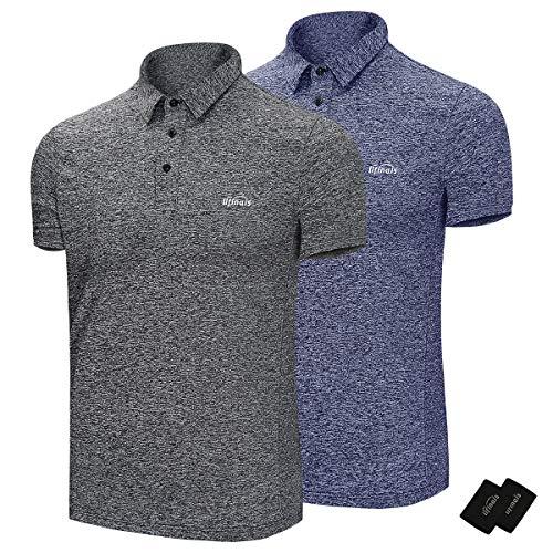 ポロシャツ メンズ 半袖 UVカット通気性 速乾 運動6.3オンス