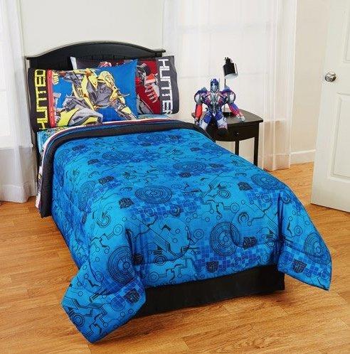Transformers 4 Battle Royale Twin/Full Reversible Comforter with Transformers 4 Alien Machine TWIN Sheet Set