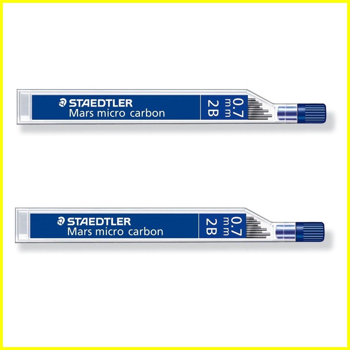 STAEDTLER Mars micro carbon 250 0.7mm 2B - Pencil lead refills - 2 Tubes / Packs (24 Leads) HB