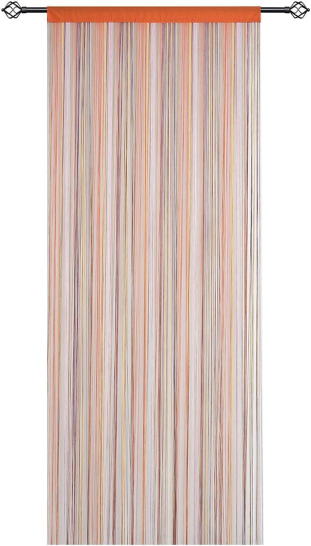HSYLYM Spaghetti String Curtains Fly Screens Curtains for Doors, Doorways, Windows Treatments and Home Décor (90x200cm,Rainbow) Rainbow 90x200cm