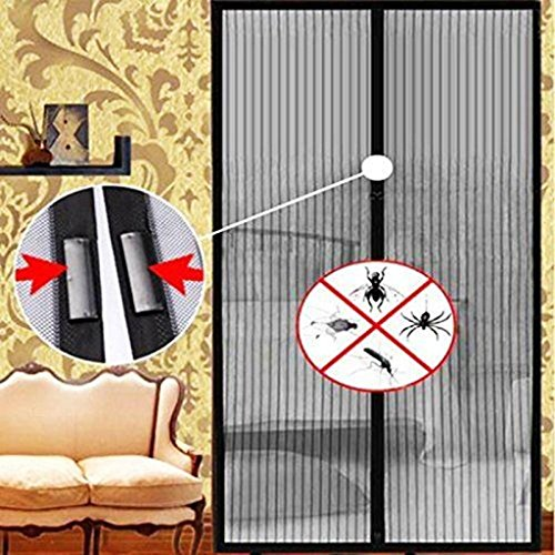 Curtain Net Magnetic Anti Mosquito Bug Divider Curtain for living room 86.619.5 inch, Black & Cream - Track Mail Canada