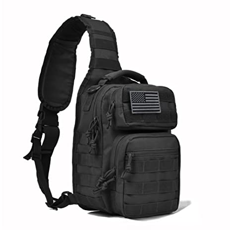 c069b5cbe Amazon.com : REEBOW GEAR Tactical Sling Bag Pack Military Rover Shoulder  Sling Backpack Molle Assault Range Bag Everyday Carry Diaper Bag Day Pack  Small ...