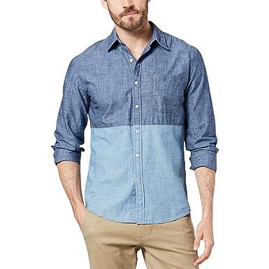 Dockers Mens Slim-Fit Color-Block Chambray Shirt: Amazon.es: Ropa ...