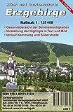Erzgebirge: Biker- und Tourismuskarte