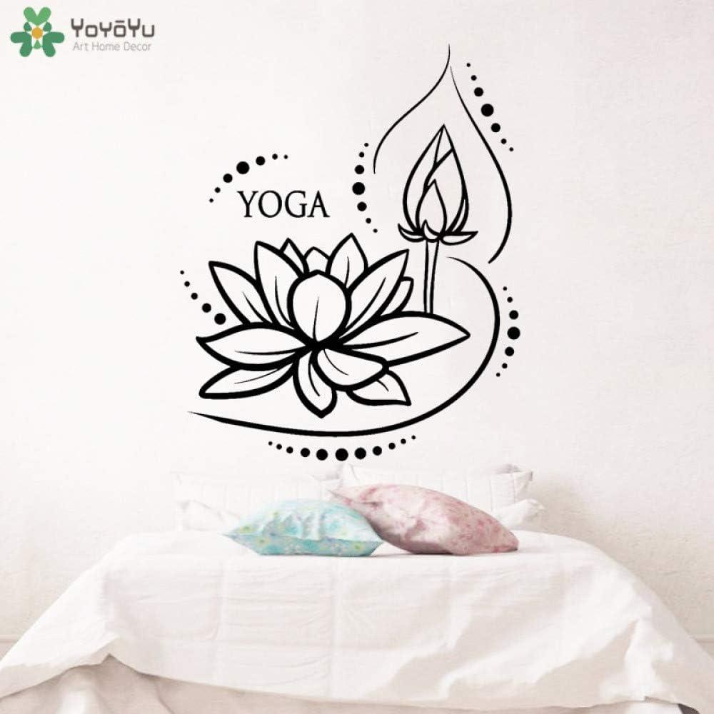 BailongXiao Etiqueta de la Pared Lotus Creative Etiqueta de la Pared Aerobics Studio Meditación Budista Arte Papel Pintado Estatua de Buda Decoración del hogar Mural 42x51cm: Amazon.es: Hogar