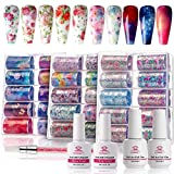 Makartt Nail Art Foil Glue Gel with Flower Starry