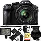 Panasonic Lumix DMC-FZ300 Digital Camera 14PC Bundle Includes SanDisk 64GB Extreme SDXC Memory Card (SDSDXN-064G-G46), 2 Replacement BLC-12 Batteries, 2 AC/DC Rapid Home & Travel Chargers, MORE