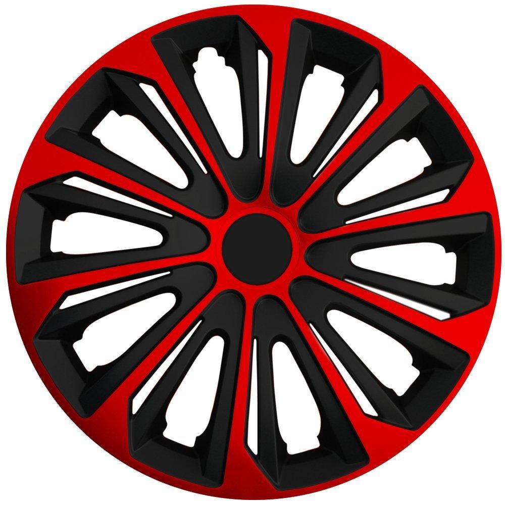 Tapacubos - Tapacubos Tapacubos Strong Rojo 16 pulgadas 16? R16 universal apto para casi todos los vehículos estándar con llantas de acero p. ej.