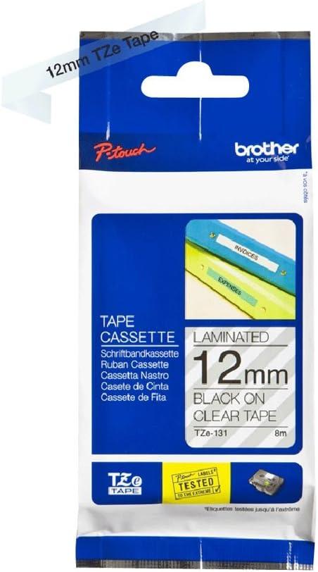 5x TZe231 12mm 8m schwarz auf weiß Schriftband für Brother P-touch PT-1000 1010