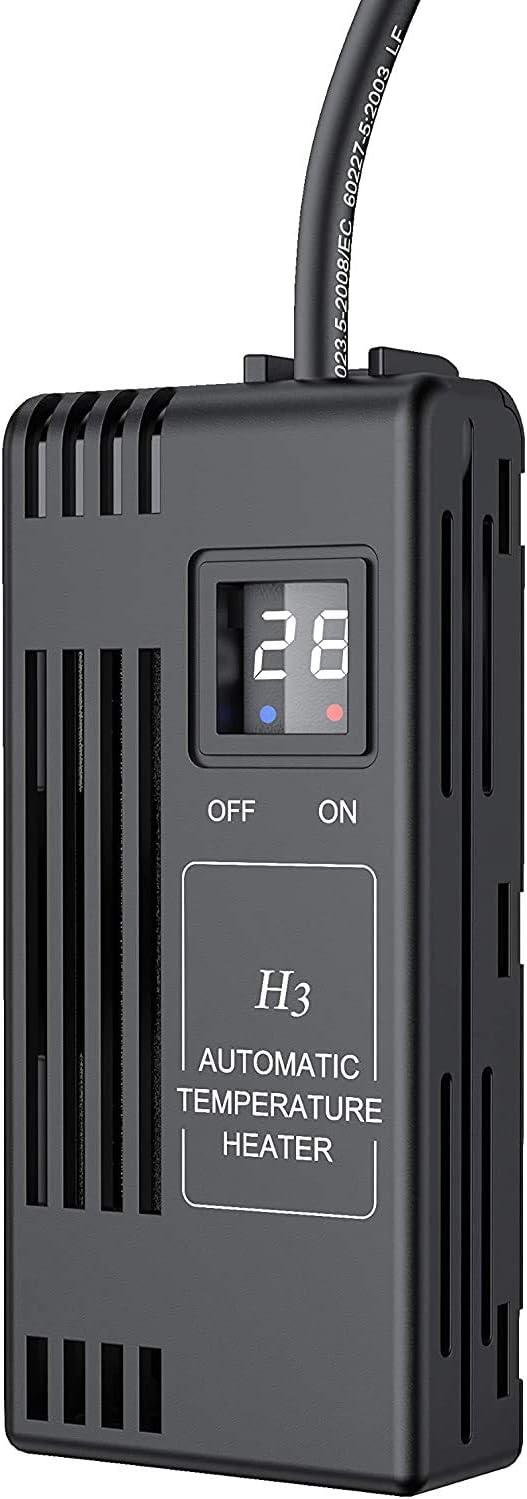 NICREW Calentador 100W Ajustable para Acuario, Calentador Sumergible para Acuario Pequeño y Tortugas, Calentador con LED Digital para Pecera