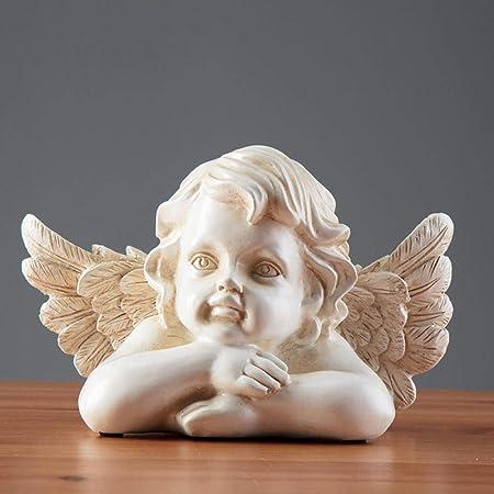 Luxdeoo Decorativas Estatuas Figuritas Escultura Estatuilla Angelito Figuras Decoración Mini Jardín Fuente Accesorios Escultura Hogar Estatua: Amazon.es: Hogar