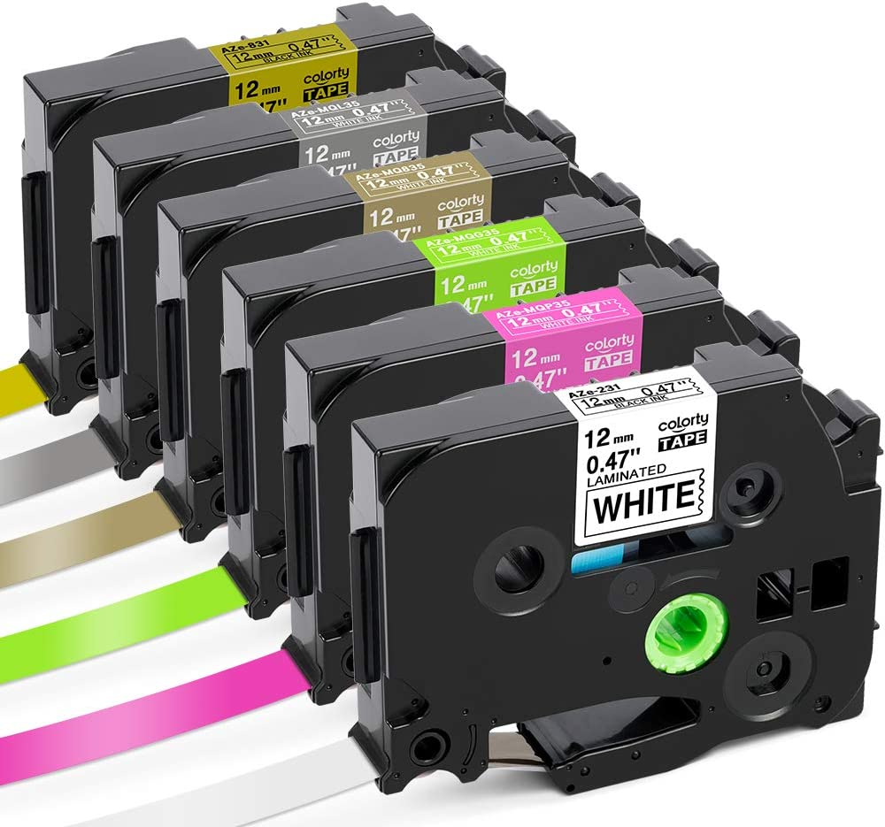 4 PK TZ-MQG35 TZe-MQG35 Tape for Brother P-Touch PT18R PT-P750W Printer 12mm