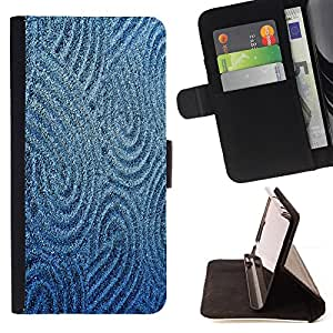 DEVIL CASE - FOR HTC Desire 820 - Sand Drawing Sturcture Pattern Blue Sea - Style PU Leather Case Wallet Flip Stand Flap Closure Cover