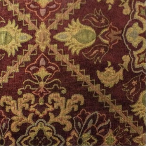 Burgundy/Multi Traditional Chenille Tapestry Decorating for sale  Delivered anywhere in USA
