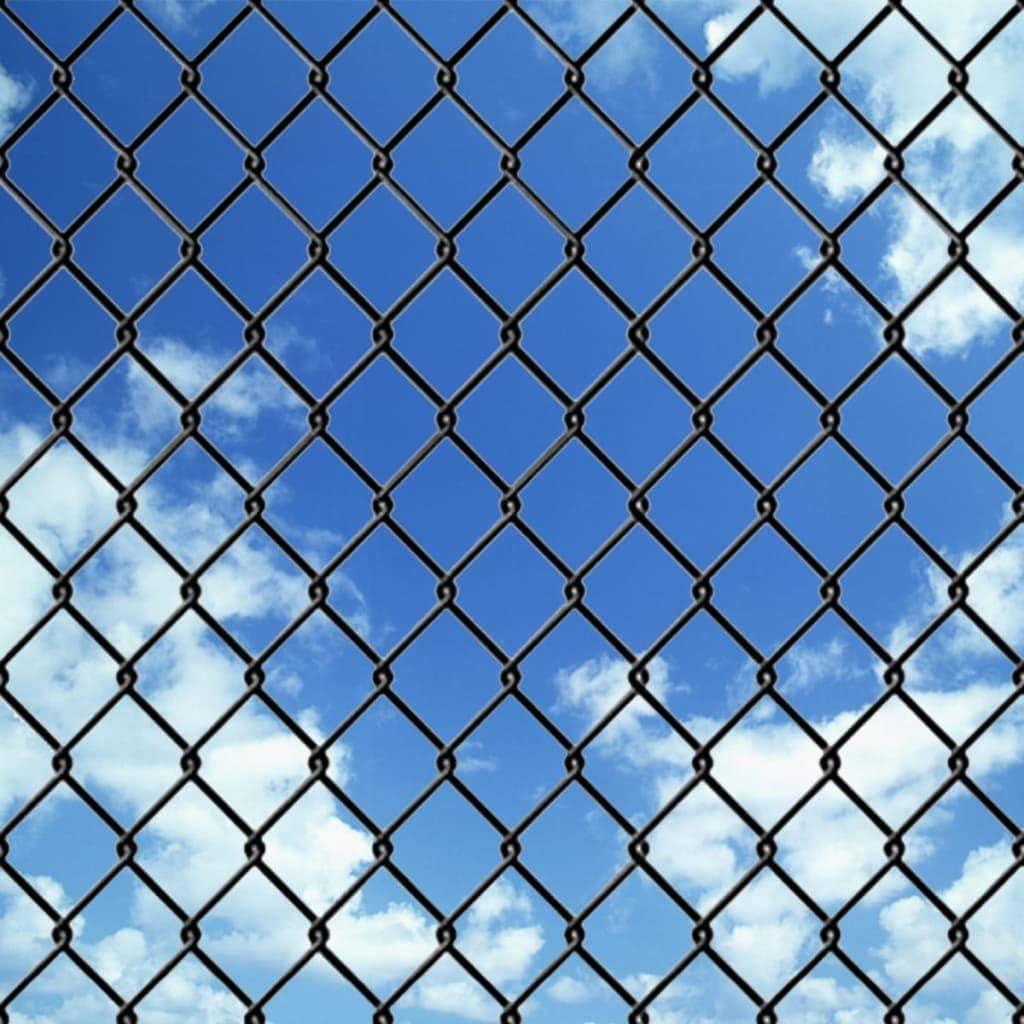 ghuanton Valla de Tela metálica 25x1 m Gris aceroBricolaje Vallas de jardín Paneles de Vallas: Amazon.es: Hogar