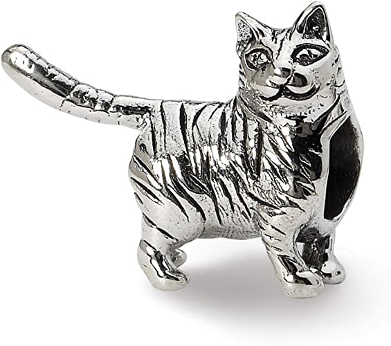 Jewelry Adviser Charms Sterling Silver Cat Charm
