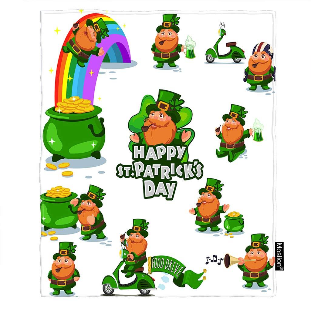 Amazon.com: Moslion Shamrock Blanket Spring St Patrick's Day ...