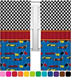 RNK Shops Racing Car Curtains – 56″x80″ Panels – Lined (2 Panels Per Set) (Personalized) For Sale