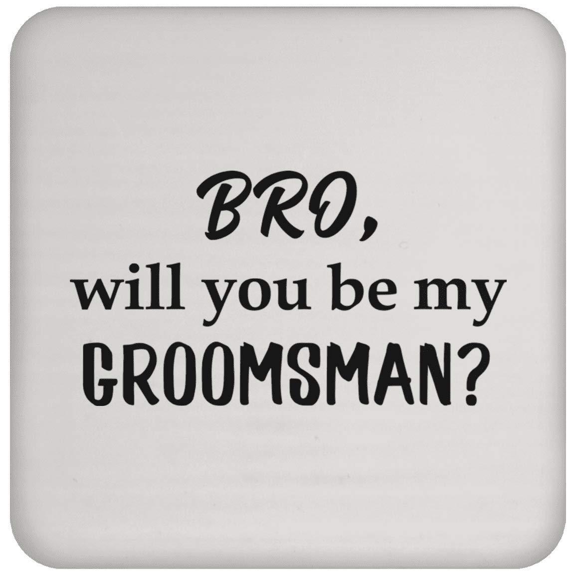 Will You Be My Groomsman コースター - コーヒー 紅茶 ドリンク - 面白い ノベルティ ギフト アイデア 面白い 結婚式 愛 男性 女性   B07NGPTWS5