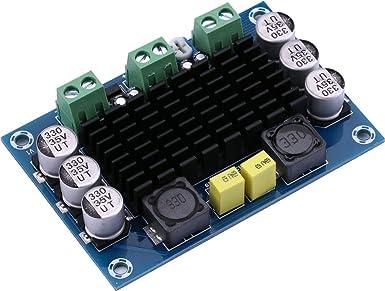 Yeeco Tda7850 Amplificador De Potencia De Audio Digital Ampli Tabla Hifi Audio Estéreo Amplificar 50 Wx4 Canal Dc 12 16 V Amp Junta Con Ventilador De Refrigeración Para Sistema De Sonido Para Coche Casa Kit De Computadora Altavoz Amazon Com
