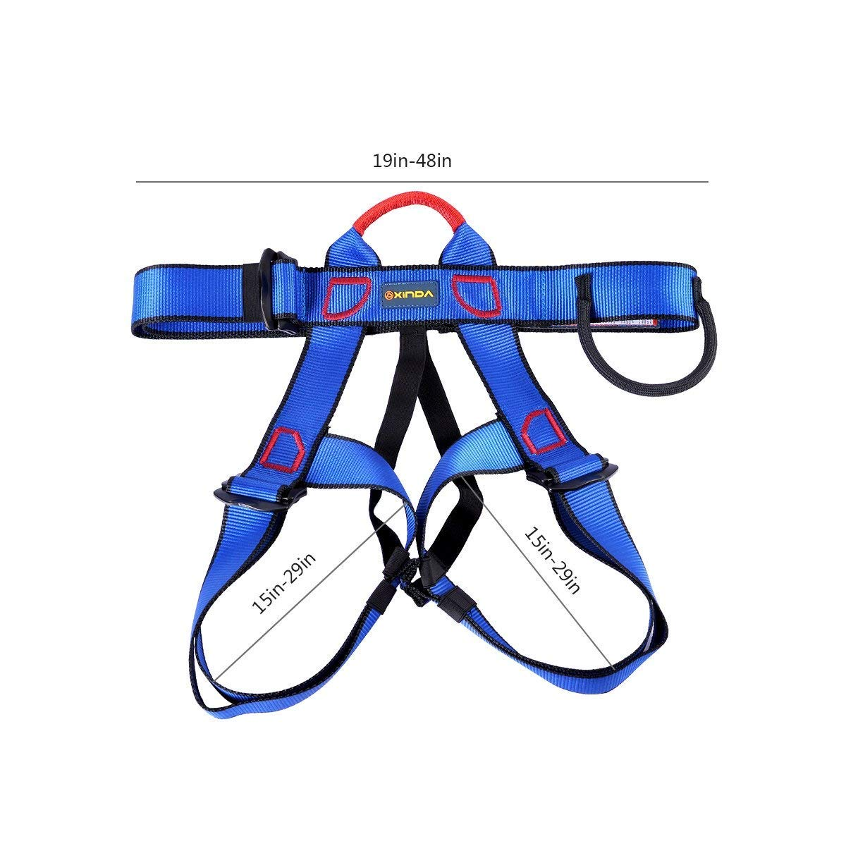 Yundxi Climbing Safety Harness Thicken Security Strap Safety Seat Protection Belt for Mountaineering Fire Rescuing Rock Climbing Rappelling Tree