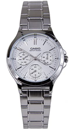 2b24c40f069040 Image Unavailable. Image not available for. Color: Casio LTP-V300D-7A  Women's Standard Stainless Steel Multifunction ...