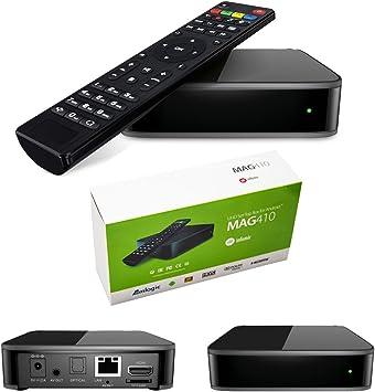 MAG 410 Android - Decodificador multimedia IPTV H.265, con Internet, TV 4K Ultra HD, 3D (idioma español no garantizado): Amazon.es: Electrónica