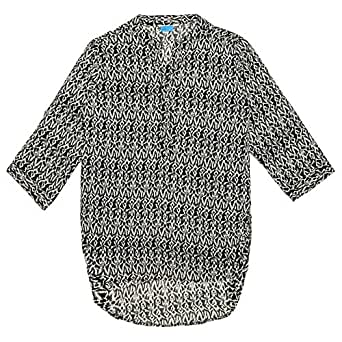 Veronica Printed Blouse For Women - S, Black