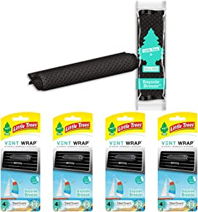 LITTLETREESCar Air Freshener   Vent Wrap Provides a Long-Lasting Scent, Slip on Vent Blade   Bayside Breeze, 4-Packs (4 Count)
