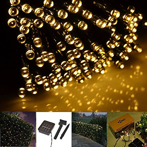 GBB Solar Powered 12M/39ft 100 LEDs String Fairy Light for Outdoor Garden Christmas Halloween Party Decoration.XMAS Sales! Get yours Now!!(Warm (Outdoor Halloween Decorations Sale)