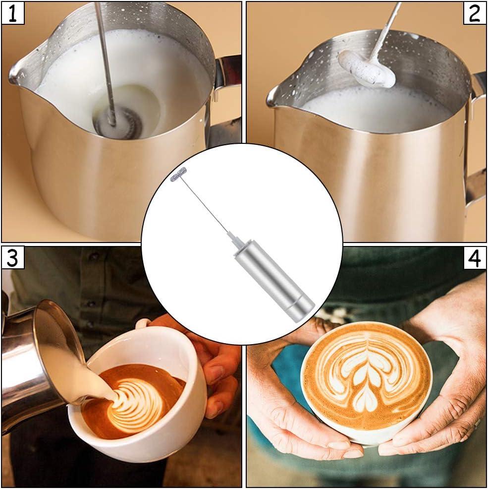 Frappe hei/ße Schokolade von Milk Boss Mini-Schaum f/ür Cappuccino Schneebesen-Getr/änkemischer f/ür kugelsicheren Kaffee elektrischer Handschaumbereiter f/ür Lattes Matcha QIEZI Milchaufsch/äumer