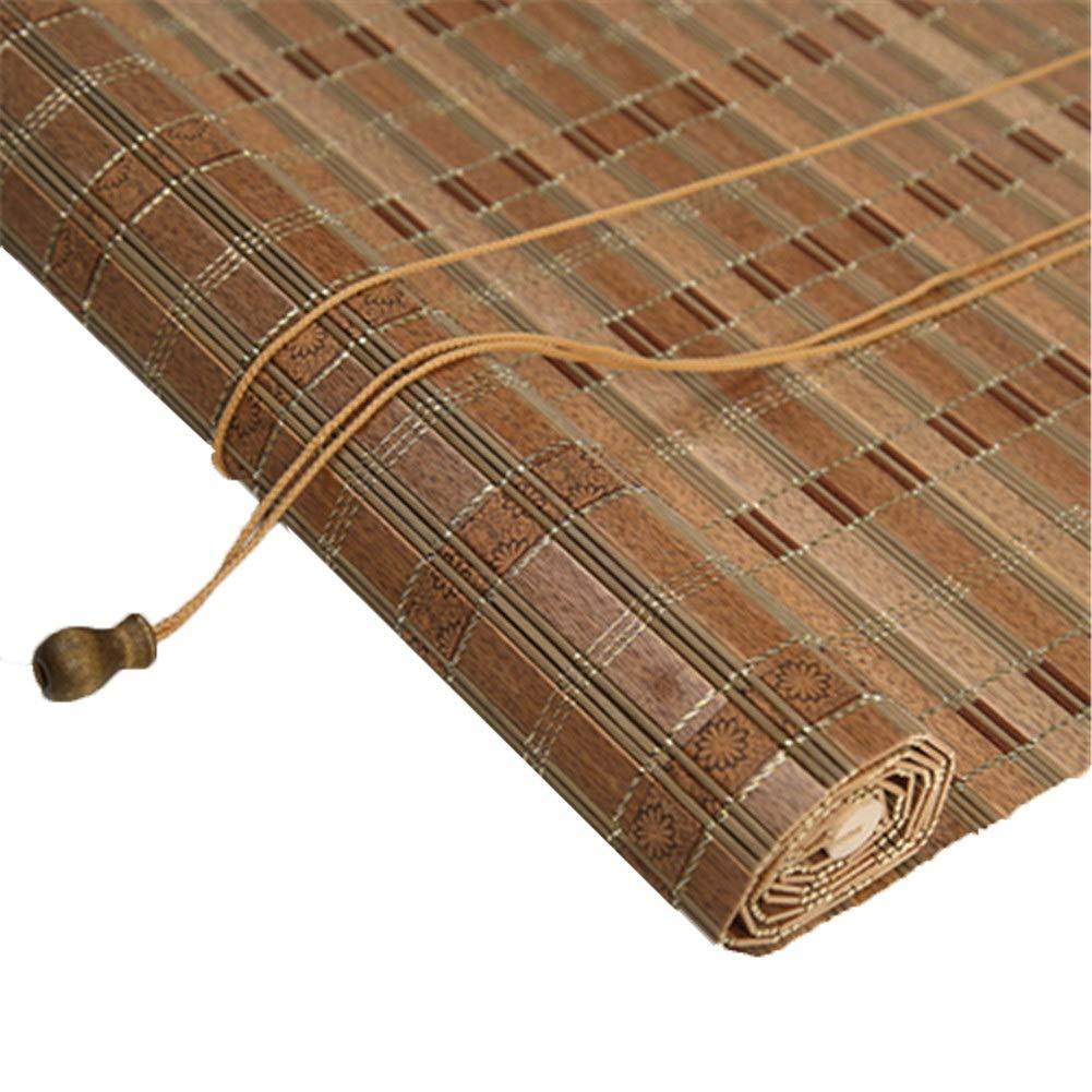 木製のローラーのブラインド、縦の停電のブラインド、屋内および屋外の居間の寝室のために適した (版 ばん : Wave, サイズ さいず : 100x200cm) B07QNK7YY3