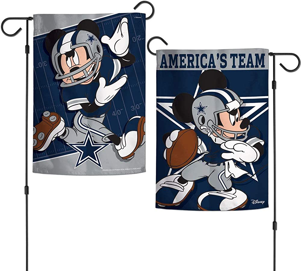 WinCraft NFL Dallas Cowboys Flag12x18 Garden Style 2 Sided Flag, Team Colors, One Size
