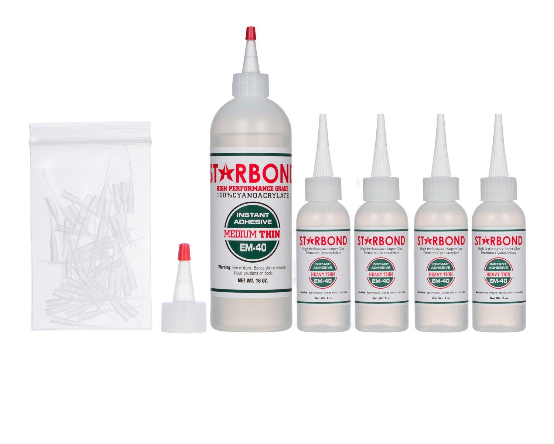 Starbond EM-40 Heavy Thin, PREMIUM CA - Cyanoacrylate Adhesive Super Glue (For Woodturning, Pen Turning, Hobby, Lapidary, Finish, Inlay) (16 ounce)