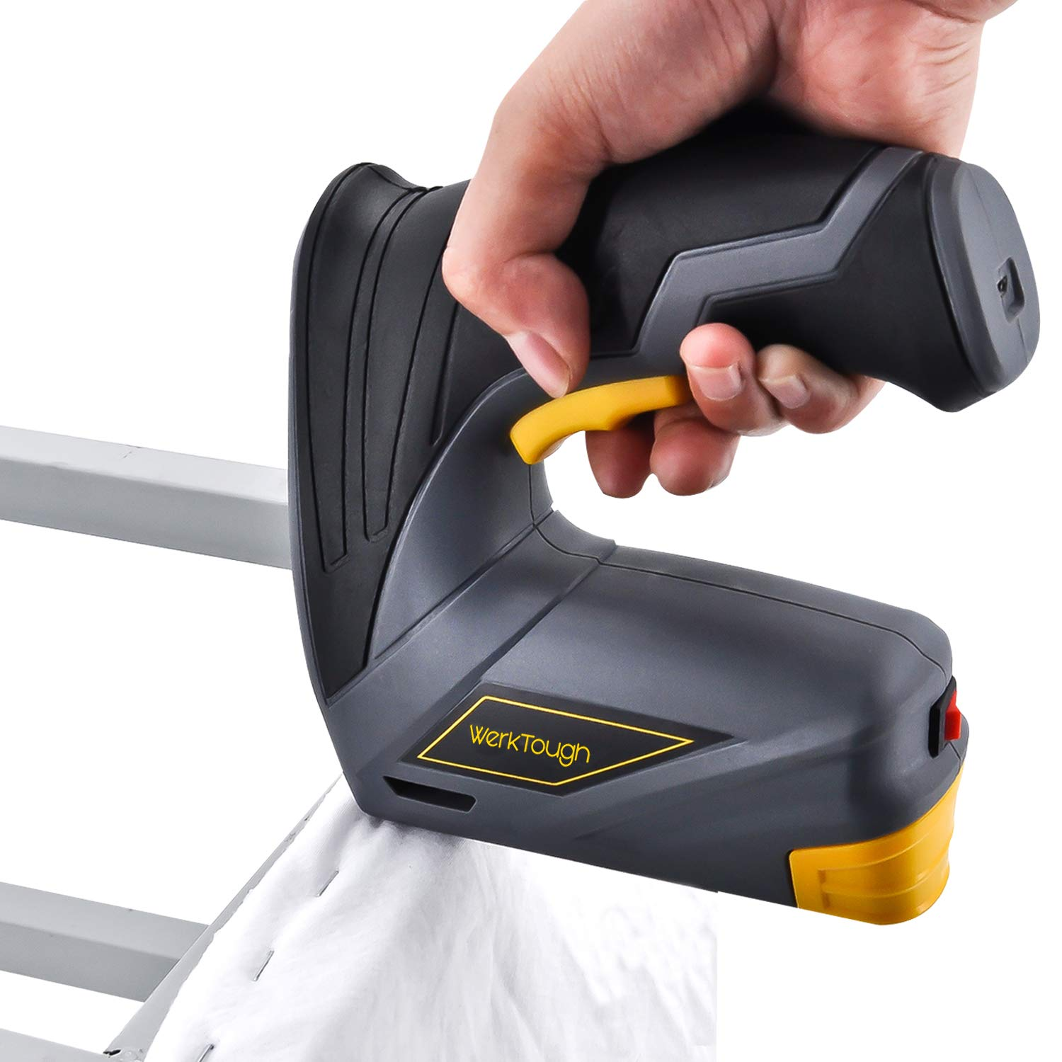 Werktough CSG01 Cordless Staple Gun Professional Electric Stapler with Carrying Box Rechargeable USB Charger