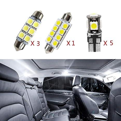 Cobear para Scirocco R Super Brillante Fuente de luz LED Interior Lámpara de Coche Bombillas de