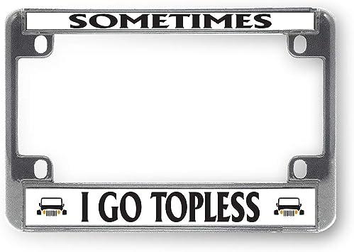 Black Metal License Plate Frame Tag Holder Go Topless