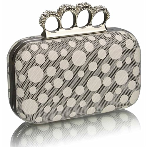 BEIGE Clutch For Purse Wedding Night LeahWard Clutches Women's Diamante Beads Out DOT Ceremony CLUTCH Handbag Luxury tfRTOqRw