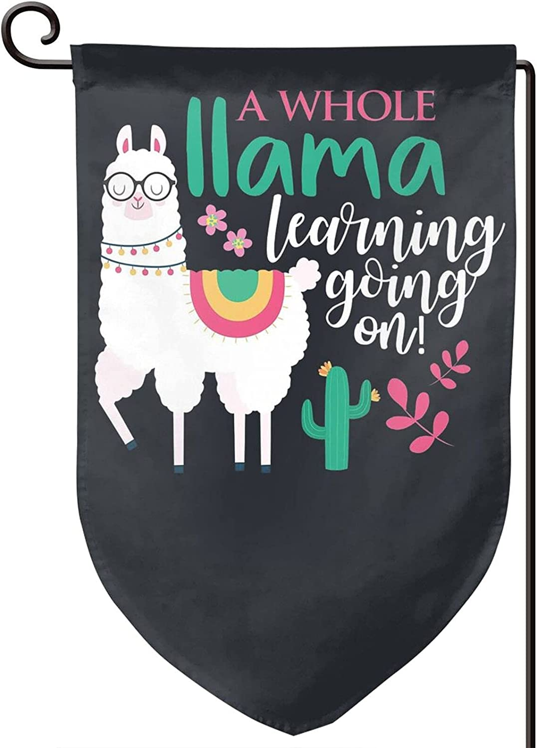 Xiojeiey A Whole Llama Learning Going On Double Stitched Vertical Flag for Garden Decorative Outdoor Decorative Anniversary Decoration 12 X 18 Inch American Garden Flag USA Flags