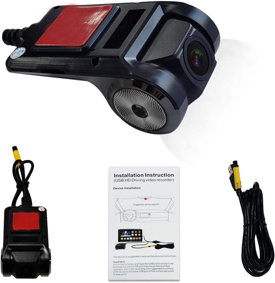 Recording Video On Camera End Operation /& Preview from ATOTO A6 Car Stereo Side ATOTO AC-44P2 1080P USB DVR On-Dash Camera